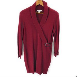 Liz Claiborne NWT Burgundy Sweater Dress Size XL
